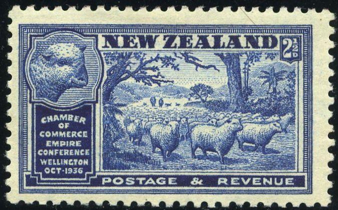 Rey George VI sellos: Nueva Zelanda 1936 (1 de octubre) Congreso de British Empire Cámaras de Comercio Wellington SG 593/597