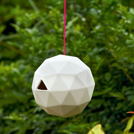 Geodesic dome birdhouse - a few of these around our new house could be cool!                                                                                                                                                     More