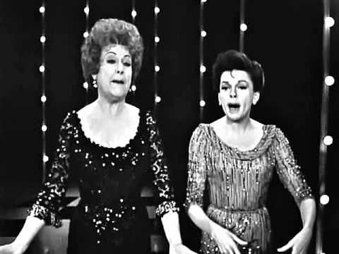 "January 16, 1908: Born, Ethel Merman. Born Ethel Agnes Zimmermann, she later shortened her last name to make it more marquee-friendly. Here she is singing a duet on ""The Judy Garland Show."""