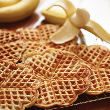 Torill's table banana-waffles an amazingly healthy alternative and wow do these taste great. I will be making them a lot more. My kids loved them.