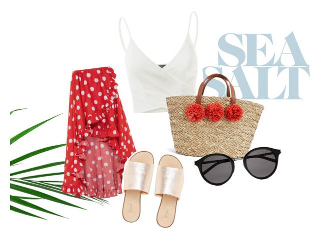 """beach day"" by kkerstinolsson on Polyvore featuring Caroline Constas, L.E.N.Y., Doublju and Yves Saint Laurent"