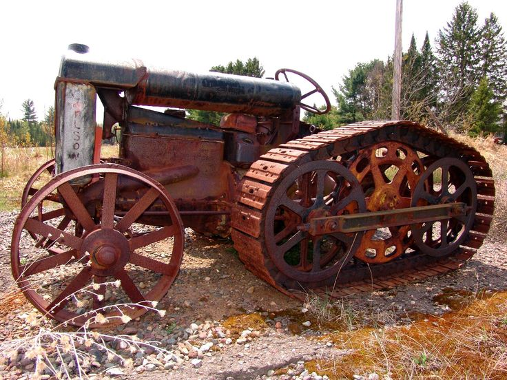 Old Tractor With Tracks : Best old school heavy equipment images on pinterest