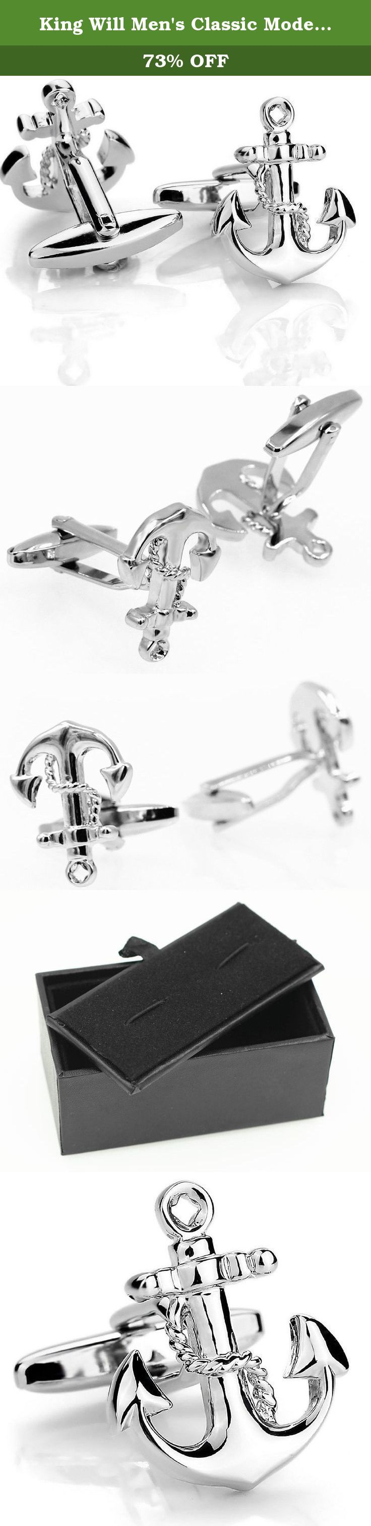 King Will Men's Classic Modern Anchor Seaman Ornate Wedding Shirts Cufflinks 1 Pair Set(DC-C001). Find a special gift for a loved one or a beautiful piece that complements your personal style with jewelry from the King Will.Also, Find yourself. These Cufflinks are superb selection featured in the King Will offers great values at affordable Price.