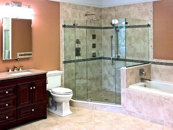 Luxury Master Bath With Kohler Shower Body Sprays Luxury