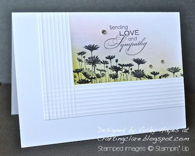 Stampin' Up ideas and supplies from Vicky at Crafting Clare's Paper Moments: Sending sympathy with the Best of Flowers