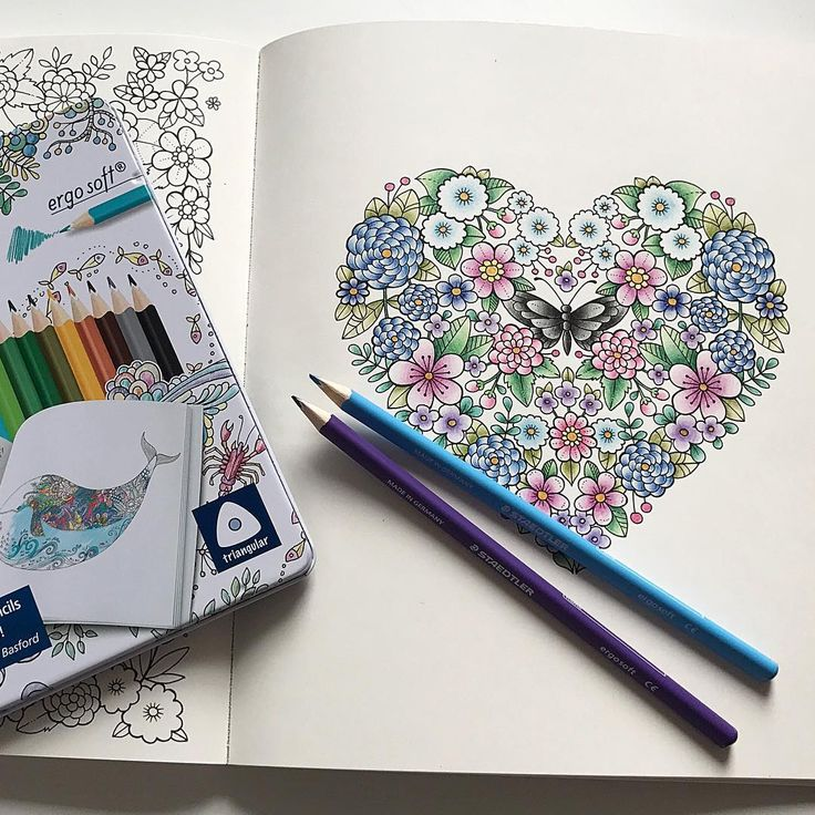 I have tested my new Staedtler Ergosoft pencils in Ivy and the Inky Butterfly  watch my newest youtube video to see how they work and a quick speed coloring of this page!  Ivy and the Inky Butterfly  Johanna Basford #ivyandtheinkybutterfly #inkyivy #johannabasford #adultcoloring #adultcoloringbook #arttherapy #coloring #colouring #wip #bayan_boyan #divasdasartes #arte_e_colorir #fabercastell #polychromls #polys #coloringmasterpiece #whitegelpen