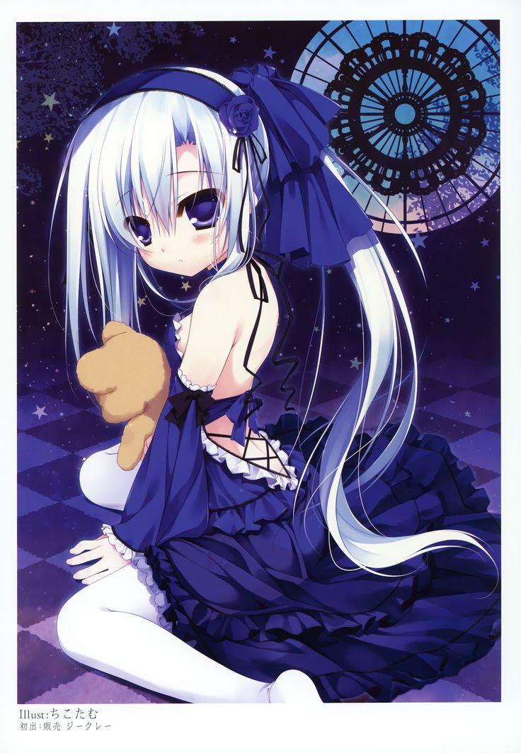 anime girl with teddy bear Pretty anime style pics