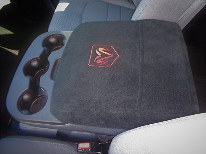 Car Console Covers Plus Fits Dodge Ram 2014 2018 Officially Licensed Embroidered Truck Armrest Console Cover For Cente Car Console Truck Seat Covers Jump Seats
