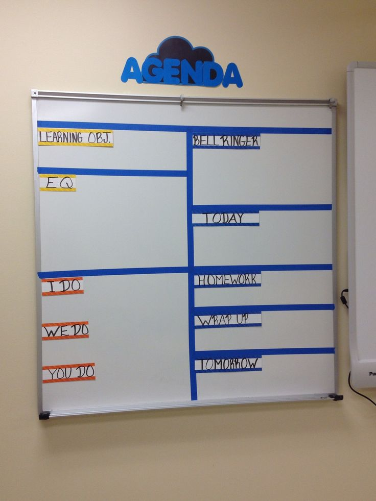 My 2013-2014 Classroom Agenda Board