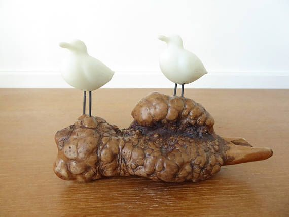 John Perry seagull sculpture made of Pellucida resin on