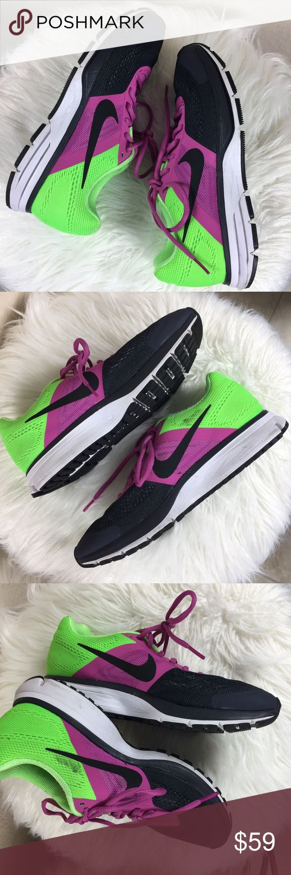 NIKE PEGASUS 30 XE NEON RUNNING SHOES 8.5 ATHLETIC Excellent overall condition.  Black mark on the innerside of one of the shoes-as pictured.  Women's 8.5, European 40.  Fast shipper! ❤️ Nike Shoes Athletic Shoes
