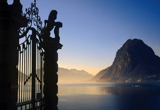 Lake Lugano, Lombardy/Switzerland