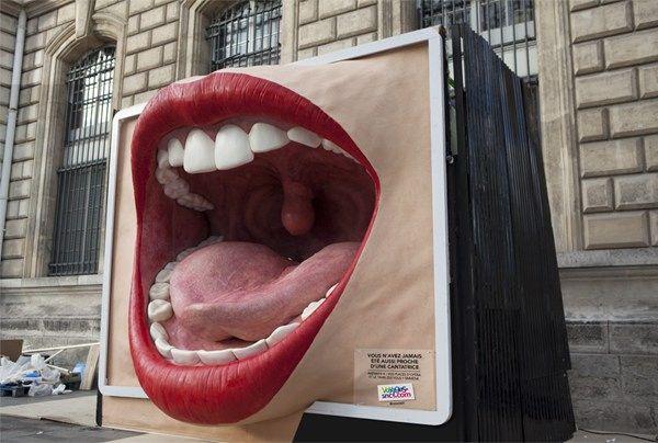 La SNCF crée d'étonnants panneaux publicitaires géants en silicone qui prennent vie
