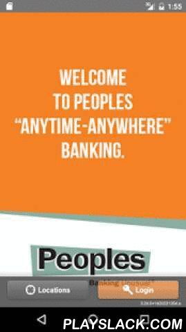 Peoples Bank - Banking Unusual  Android App - playslack.com ,  Manage your finances anytime, anywhere with Peoples Bank Mobile Banking. You can safely and securely view account balances, recent transactions, transfer funds, pay bills, manage your debit cards, locate a Peoples Bank and/or Peoples Bank ATM and much more. Banking at your fingertips wherever you are. Now that's Banking Unusual.NOTE: Peoples Bank does not charge a fee for mobile banking. Guests are responsible for any usage fees…
