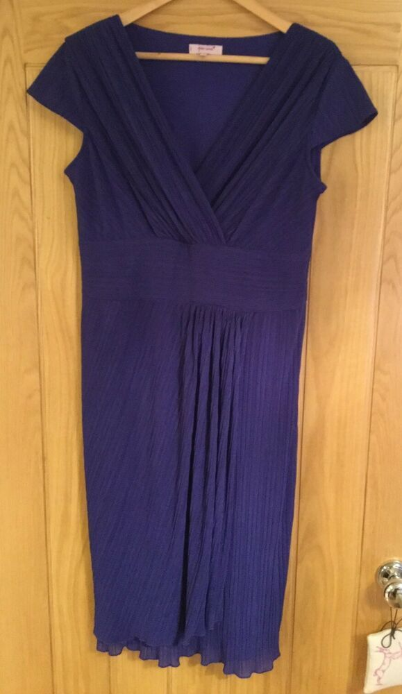 Blue Dress From Ebay Uk Blue Dress Ideas Bluedress Bluedresses Ladies Per Una Dress Size 16 Blue Purple Crinkle Size 16 Dresses Dresses Maxi Dress Size 10