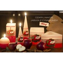 Niesamowite aromaty jabłka i cynamonu wypełnią słodyczą Twoje mieszkanie na ponad 70 h palenia świeczki! :) więcej na zrobswieczke.pl Do zobaczenia!!