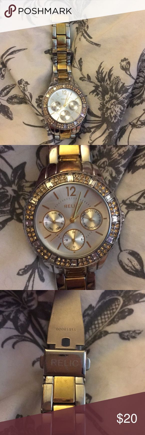 Relic watch Silver, gold, worn, dead battery, looking to get rid fast Relic Accessories Watches