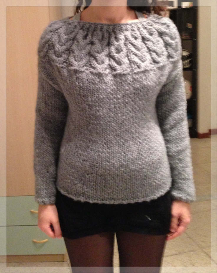Il maglione con i gufi FINITO!!