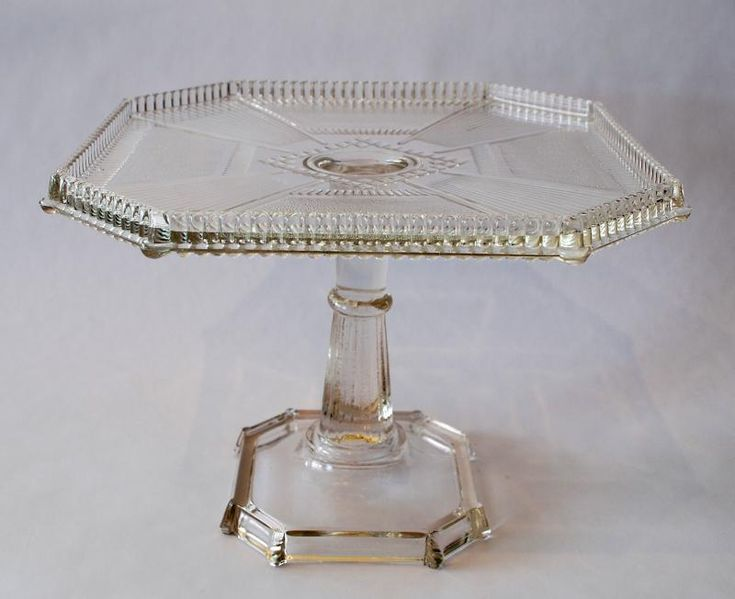 i collect clear and milk glass cake stands but i donu0027t have a square