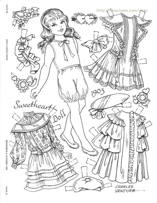 The 597 best images about Paper Dolls Coloring Pages on Pinterest