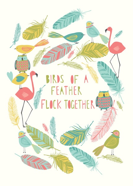 birds of a feather Art Print by bethan janine   Society6