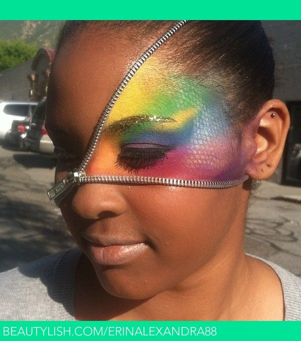 Zipper & Rainbow beautiful face : )