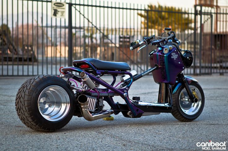 Stretched Honda Ruckus Scooter on Bobber Seats For Suzuki