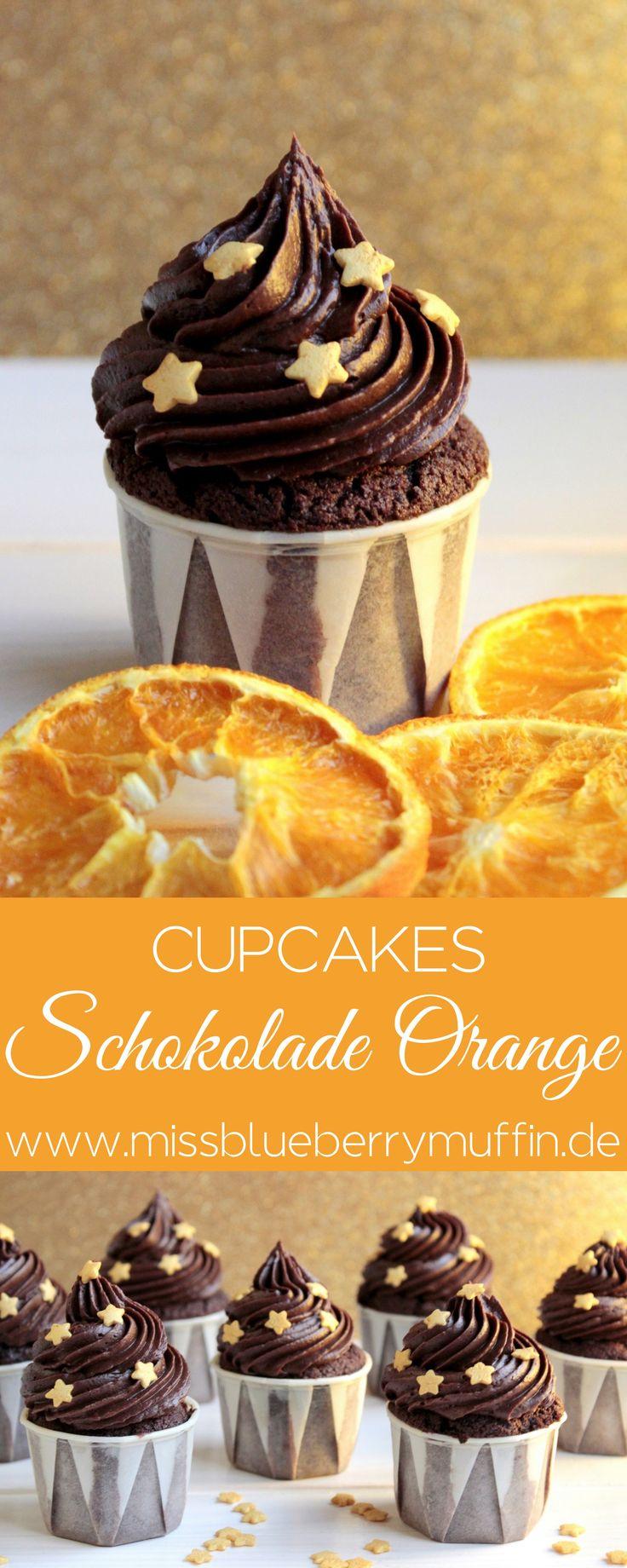 Schokoladen-Orangen-Cupcakes // Chocolate Orange Cupcakes // Ganache <3