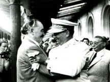 One of the last meetings of Tito and Georgi Dimitrov at Sofia Central Station.