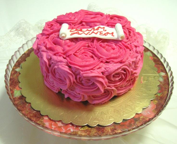 buttercream rose cake for my mum mutludilimler.blogspot.com