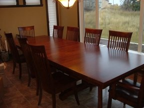 I want a large dining room table someday (when I have a dining room). I would switch out the chairs to something else.