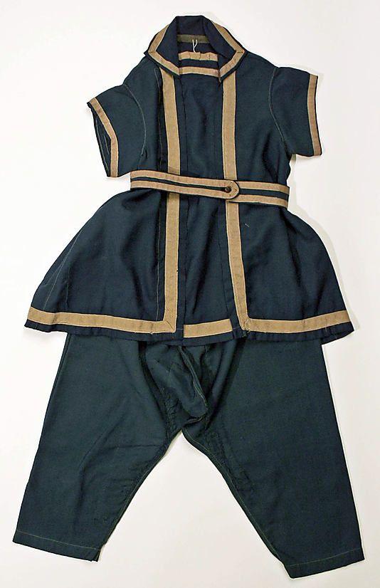 Beachwear (Bathing Suit)  Date: 1878–80 Culture: American Medium: wool