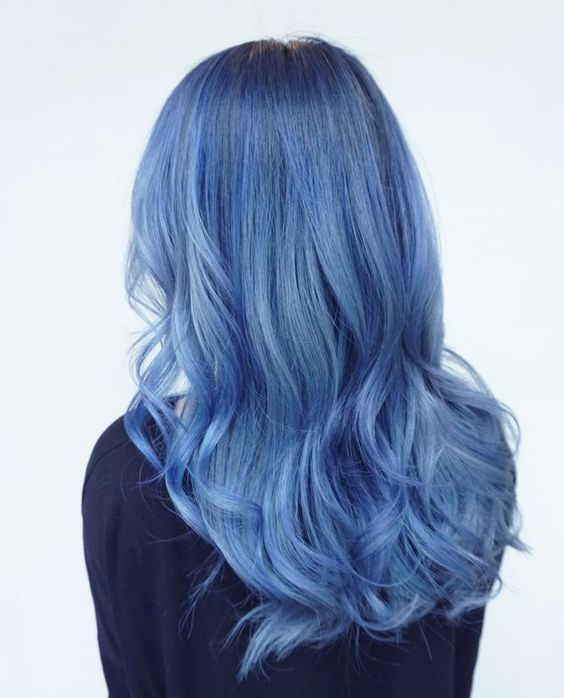 Blue hair like the ocean - The new hair color trend, Blue is associated with the wide sea and a crystal clear sky. In addition, this color stands for freedom, peace and harmony. Perhaps for these reasons..., #Decor #Ideas #Design #DIY