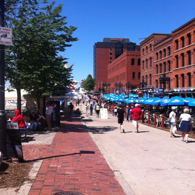 The Marketsquare in St. John, New Brunswick. Great walking city.
