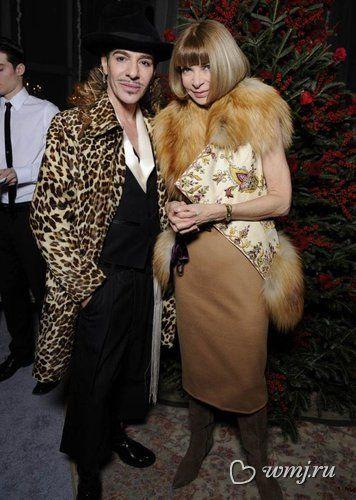Джон Гальяно и Анна Винтур, 2010 год