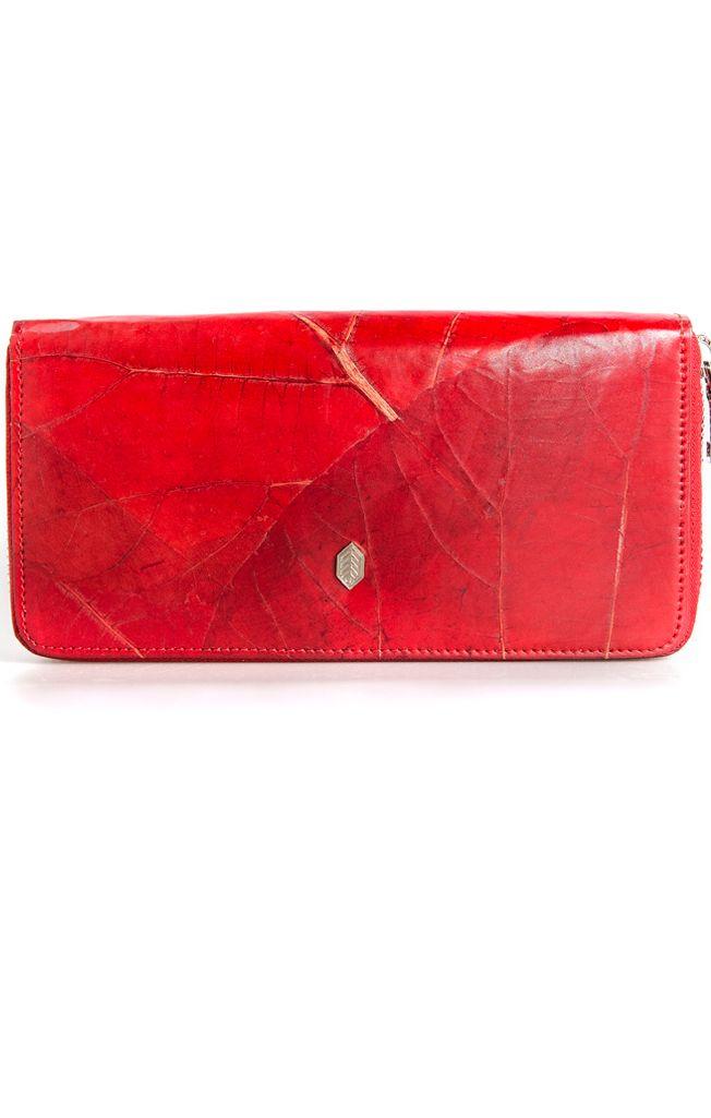 Ebony and Chrome Boutique - Leaf Zip Wallet