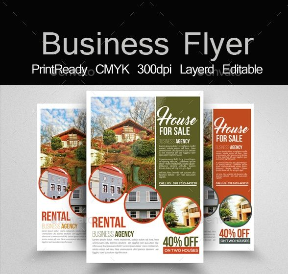 Best  Sales Flyer Template Psd For House Retail And