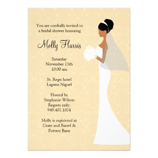 269 best african american wedding invitations images on pinterest african american bridal shower invitation stopboris Images