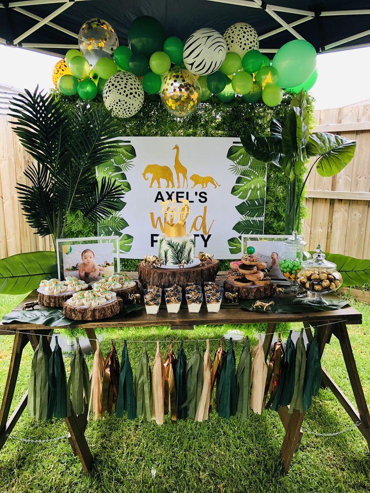 Wild One Boy birthday parties, Jungle theme birthday