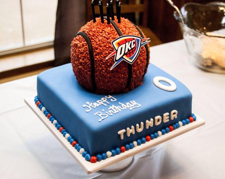 Luke S Okc Thunder Birthday Cake Sky Pinterest