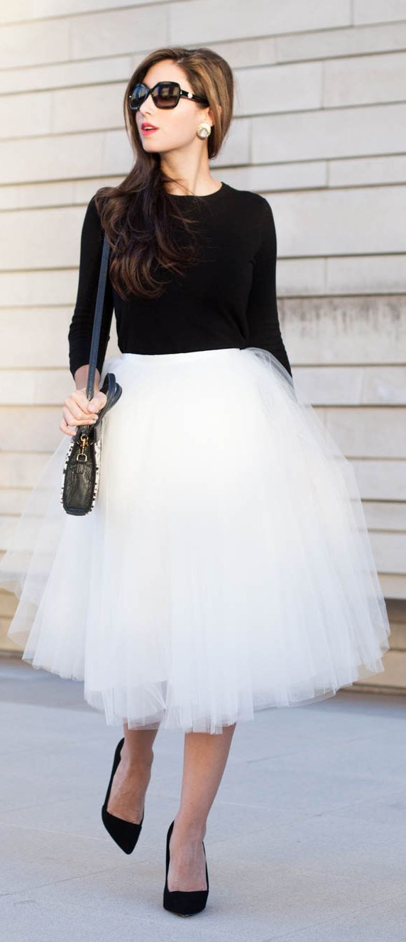 White Tulle Skirt.  I'm getting one for Christmas.  :-)