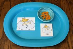 hands-on math activities to go along with the fun Dr. Seuss book One Fish Two Fish Red Fish Blue Fish
