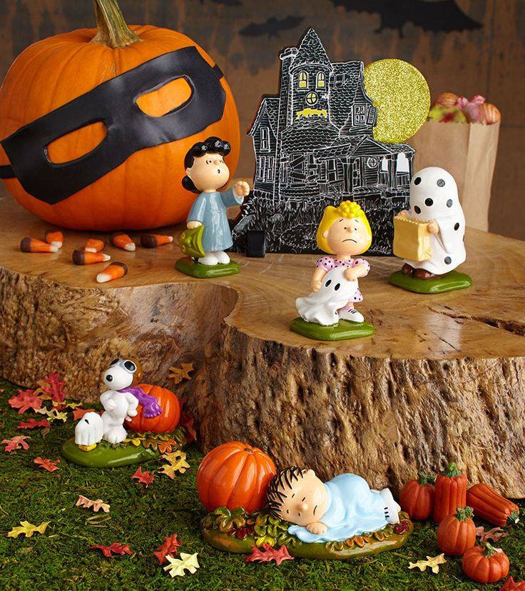 Department 56 Classic Brands Peanuts Halloween. It's the Great Pumpkin Charlie Brown! Treat yourself to the whole Peanuts® gang with memorable ceramic scenes featuring Snoopy, Woodstock, Charlie Brown and Lucy.  For more information www.department56.com Shop 24/7 shop.department56.com © Peanuts Worldwide LLC PEANUTS.COM