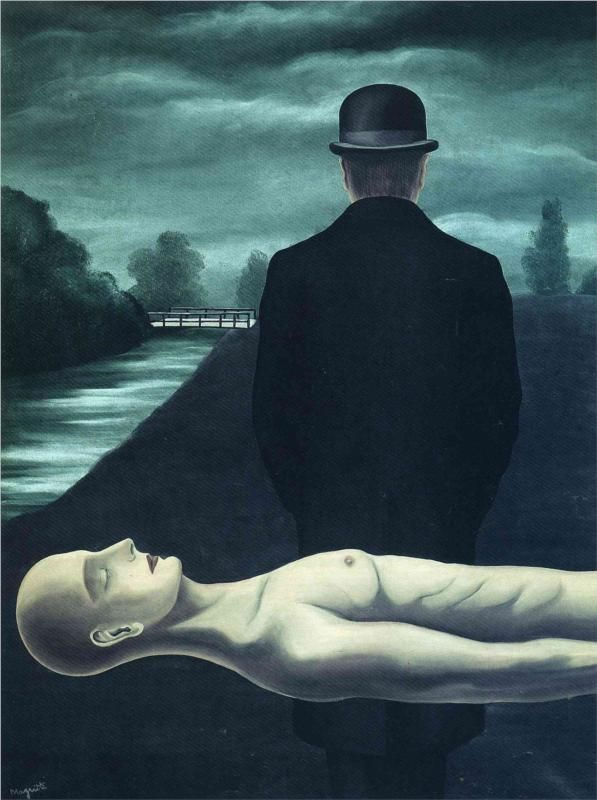 The Musings of the Solitary Walker (1926) by Rene Magritte. Art Experience NYC www.artexperiencenyc.com/social_login/?utm_source=pinterest_medium=pins_content=pinterest_pins_campaign=pinterest_initial