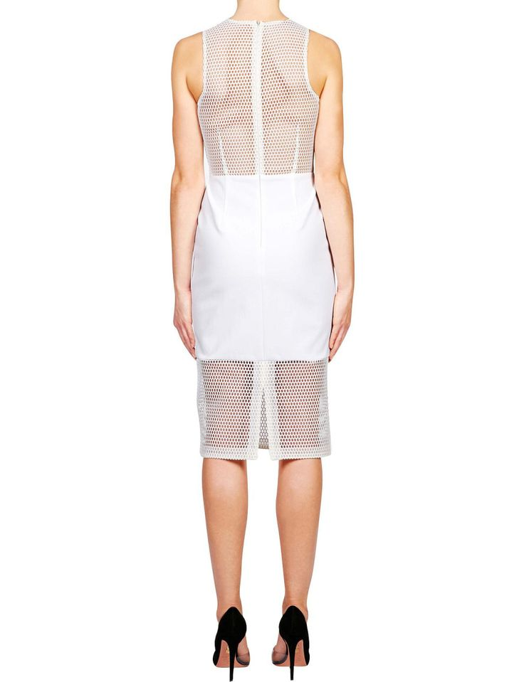 Honeycomb Mesh Panelled Dress | David Jones