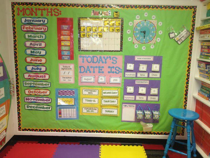 Classroom Design For Grade One ~ Calendar math board morning meeting ideas pinterest