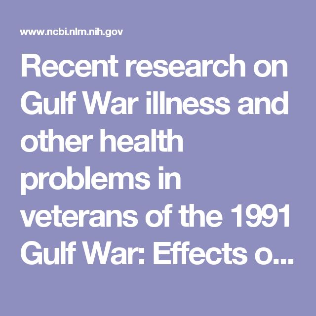 Recent research on Gulf War illness and other health problems in veterans of the 1991 Gulf War: Effects of toxicant exposures during deployment. Veterans of Operation Desert Storm/Desert Shield – the 1991 Gulf War (GW) – are a unique population who returned from theater with multiple health complaints and disorders. Studies in the U.S. and elsewhere have consistently concluded ...