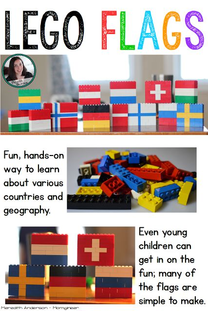 Flag Fun with LEGOs! Hands-on geography LEGO build that is great fun while the Olympics are taking place (but can be done any time you are studying flags of the world or counties). | momgineer
