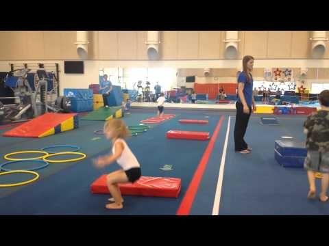 Intro to Gymnastics : Obstacle Courses for Preschool Gymnastics - YouTube