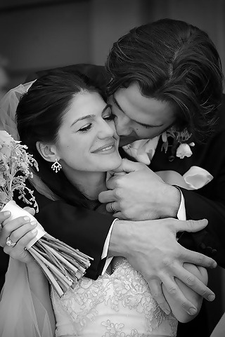 Genevieve Cortese & Jared Padalecki. Seriously, they are the cutest couple ever. I love this photo so much!